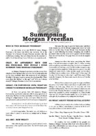 Summoning Morgan Freeman