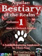Aquilae: Bestiary of the Realm: Volume 1 (Pathfinder Second Edition / P2E)
