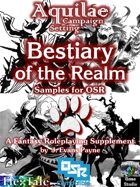Aquilae: Bestiary of the Realm for OSR: Sample Monsters