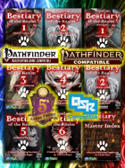 Aquilae: Bestiary of the Realm: The Multisystem Bookshelf (Pathfinder, 5E, P2E, OSR)