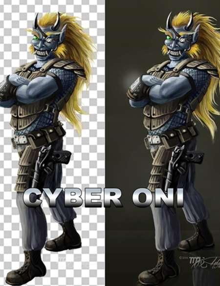 Cyber Punk Oni Artstock - Strange Moon Publications ...