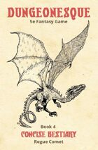 Dungeonesque White Box Book 4: Concise Bestiary