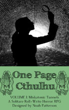 One Page Cthulhu: Volume 1: Miskatonic Tunnels