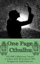 One Page Cthulhu: Volume 1: Miskatonic Tunnels