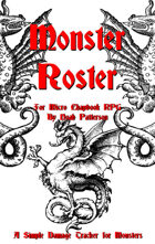 Micro Chapbook RPG Monster Roster