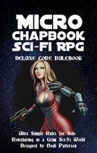 Micro Chapbook Scifi RPG: Deluxe Core Rulebook
