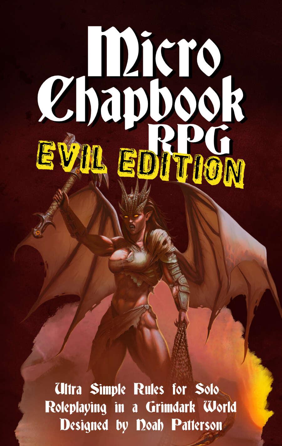 Micro Chapbook RPG: EVIL EDITION