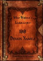 Mad Wizard's Lab - 100 Demon Names