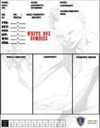 White Box Zombies- CHARACTER SHEET - free