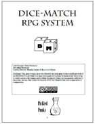 Dice Match Rule System