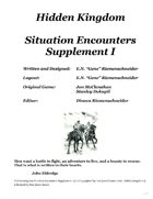 Hidden Kingdom - Situation Encounters Supplement Vol I