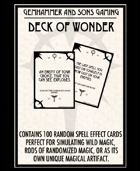 Deck of Wonder