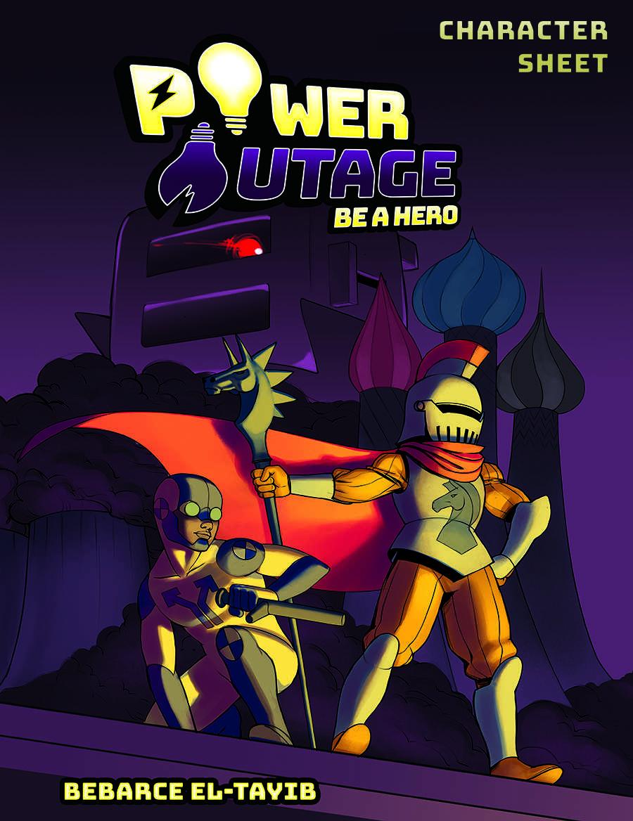 Power Outage Character Sheet - Go Nerdy | DriveThruRPG com