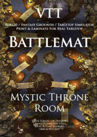 VTT Battlemap - Mystic Throne Room Map