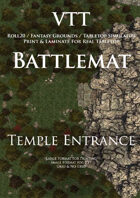 VTT Battlemap - Temple Entrance Map