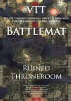 VTT Battlemap - Ruined Throne Room Map