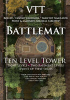 VTT Battlemap - Ten Level Tower