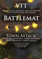 VTT Battlemap - Town Attack