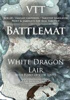 VTT Battlemap - White Dragon Lair