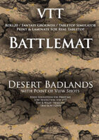VTT Battlemap - Desert Badlands