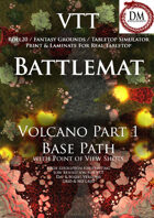 VTT Battlemap -  Volcano Part 1: Base Path