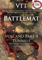 VTT Battlemap -  Volcano Part 4: Tunnels