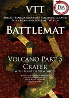 VTT Battlemap -  Volcano Part 5: Crater