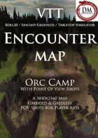 VTT Encounter Map - Orc Camp