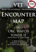 VTT Encounter Map - Orc Watch Tower II