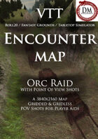 VTT Encounter Map - Orc Raid