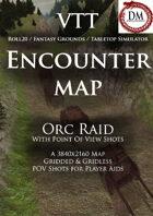 VTT Encounter Map - Orc Raid