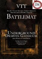 VTT Battlemap - Underground Dwarven Gatehouse