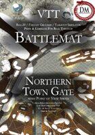 VTT Battlemap - Northern Town Gate