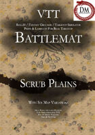 VTT Battlemap - Desert Scrub Plain
