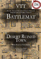 VTT Battlemap - Desert Ruined Town
