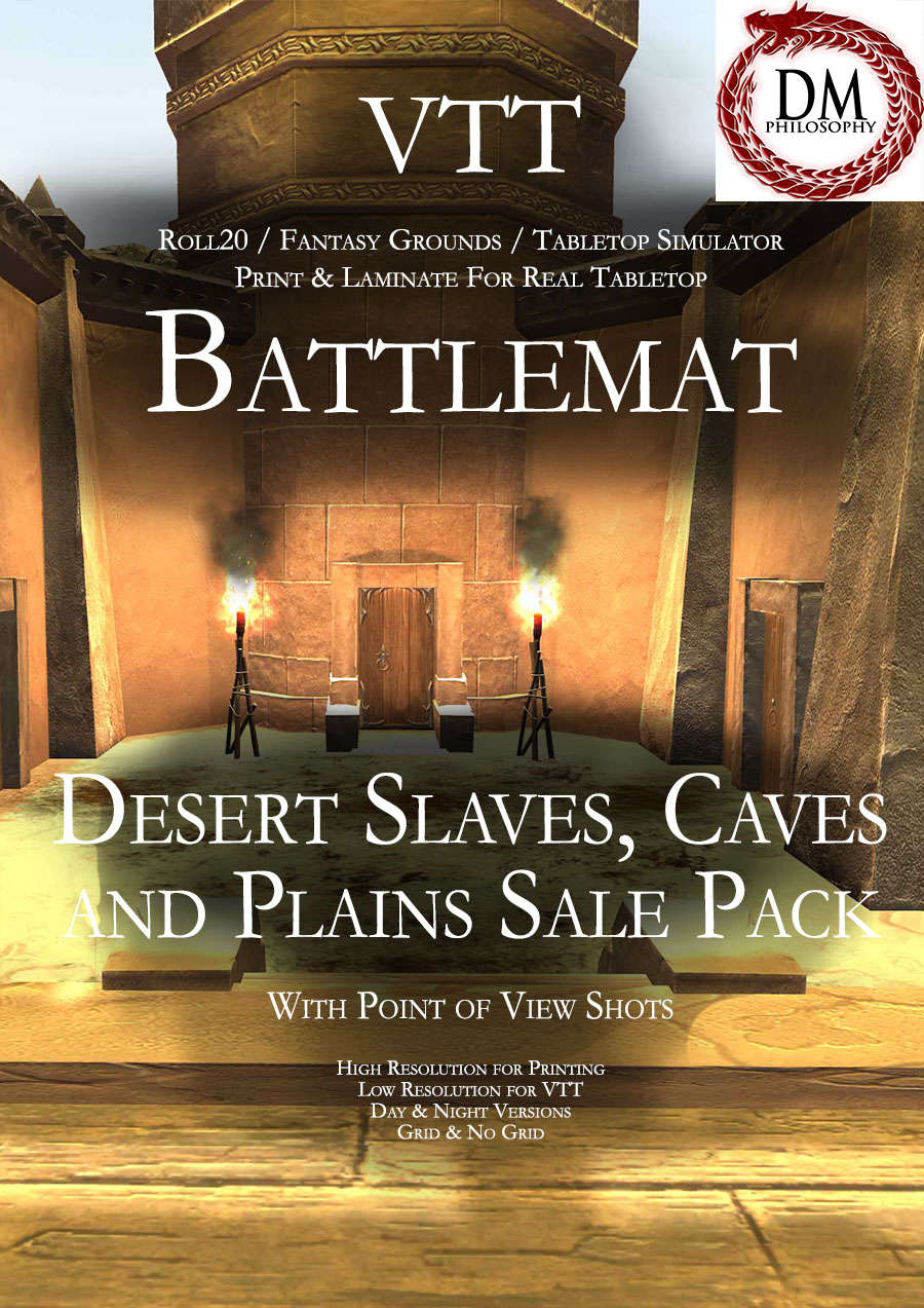 Desert Slaves, Caves and Plains Sale Pack