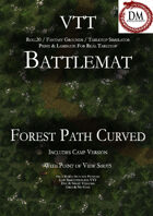 VTT Battlemap - Curved Forest Path