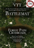 VTT Battlemap - Forest Path Crossroads
