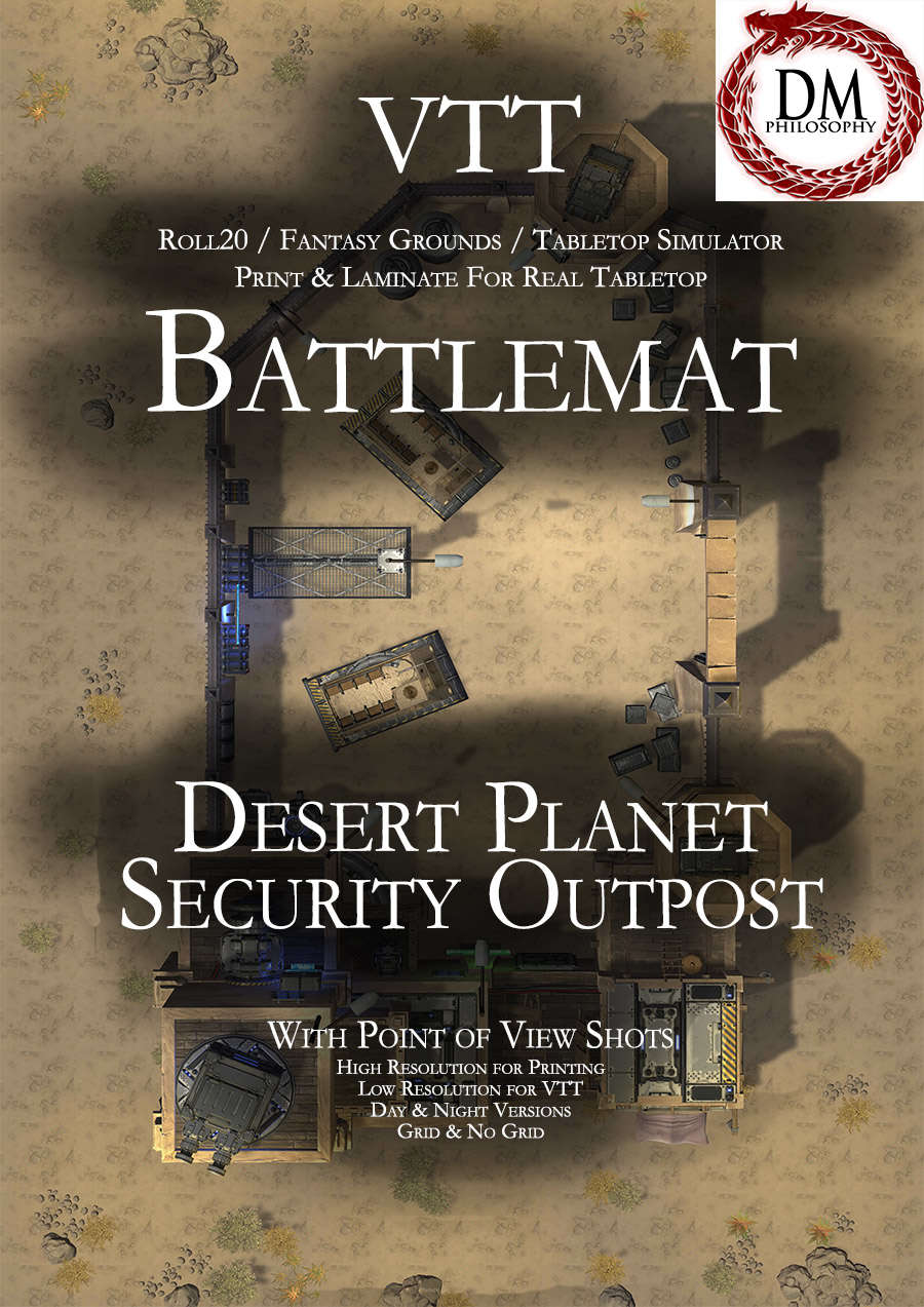 VTT Battlemap - Desert Planet Security Outpost - DM Philosophy | Sci Fi  Themed Maps | DriveThruRPG com