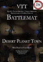 VTT Battlemap -  Desert Planet Town