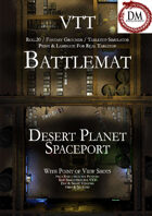 VTT Battlemap -  Desert Planet Spaceport