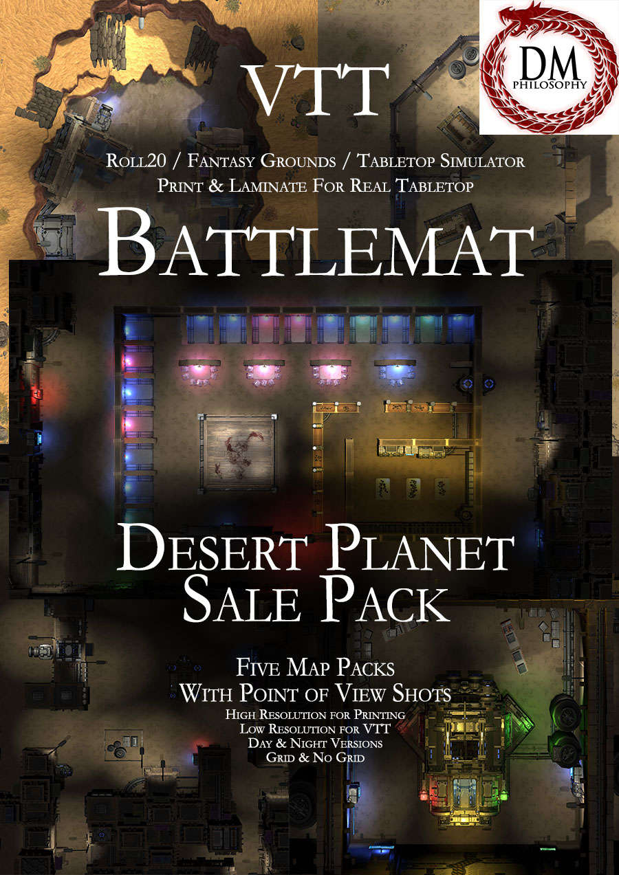 Desert Planet Sale Pack [BUNDLE] - DM Philosophy | Sci Fi Themed Maps |  DriveThruRPG com
