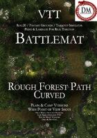 VTT Battlemap - Rough Forest Path Curved