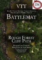 VTT Battlemap - Rough Forest Cliff Path