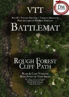 VTT Battlemap - Rough Forest Cliff Path