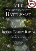 VTT Battlemap - Rough Forest Rapids