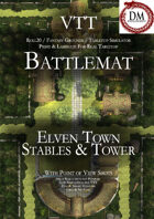 VTT Battlemap - Elven Town Stables & Tower