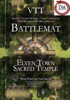 VTT Battlemap - Elven Town Sacred Temple