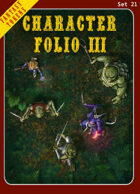 Fantasy Tokens Set 21: Character Folio 3