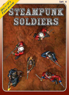 Sci-Fi Tokens Set 4, Steampunk Soldiers